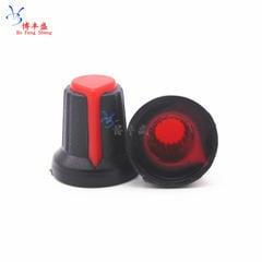 [含稅]AG2 塑膠旋鈕 梅花帽子 配電位器 WH148 RV097 R097 15X17mm 紅色20個