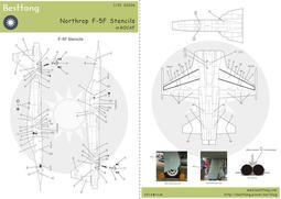 1/32Bestfong水貼紙~F-5F戰鬥機~國軍型式的細部標誌/圖案與警語