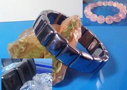 <出清>鈦赫茲手排16mm (抽驗含矽超過90% 市價800)+贈送-星光粉晶手珠