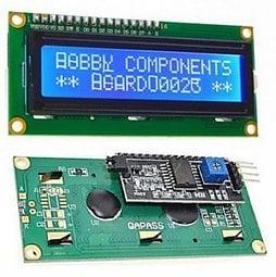 LCD1602顯示模組 I2C介面 16x2藍底白字液晶LCD 已焊好IIC轉接板PCF8574 適Arduino 樹莓