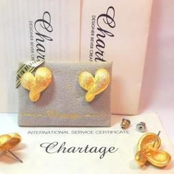 比利時【Chartage】無過敏無鎳包18K金霧金穿耳耳環( 9513055 )