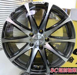 編號(37) 正日本 VENERDI MADELENA MODA 20吋鋁圈 5孔114.3 5孔100 黑電鍍車面