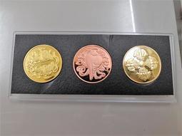 藏傳佛教雙魚 硬幣 無面值 收藏 佛家八寶之一 鍍金銅幣