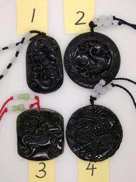 天然台灣墨玉蛇紋石精雕立體貔貅吊墜墜子玉墬掛件玉珮項鍊珠寶寶石首飾飾品任選-V