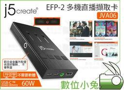 免睡攝影【J5 create 多機直播擷取卡 EFP-2 JVA06】擷取器 擷取卡 直播 會議 PIP PBP 多畫面