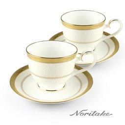 日本Noritake-華麗年代咖啡對杯-金 免運費