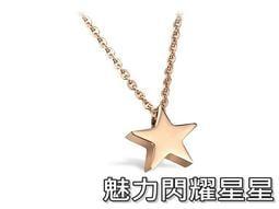 ~316 小舖~~F68 ~316L 鈦鋼項鍊魅力閃耀星星項鍊單件價小星項鍊玫瑰金星星項鍊