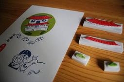 米白色柔美紙  310P 蓋印用紙 明信片 橡皮擦雕刻