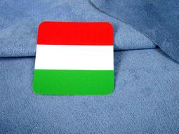 【國旗商品創意館】匈牙利國旗方形行李箱貼紙/抗UV、防水/登機箱、旅行箱/世界多國款可收集訂製