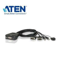 ~電腦零件3C ~ATEN 2 埠USB DVI KVM 多電腦切換器CS22D ◆支援D