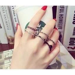 ~~樂樂購~~ 買一送一韓國珍珠多件套戒指食指關節戒日韓 簡約潮人百搭飾品女士指環K602