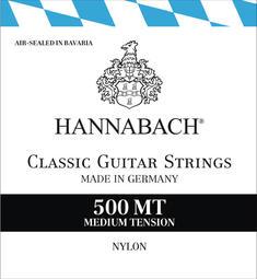 【恩心樂器批發】德國製 HANNABACH 500MT 500 古典吉他弦 尼龍弦 中張力 一般張力 公司貨原廠包裝