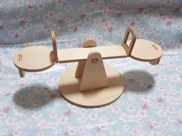 [漢娜熊黏土手作]木製蹺蹺板 兒童美術彩繪 親子黏土DIY