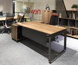 【J Simple傢俱】赫斯Hessen高階主管桌-工業風 辦公桌 書桌 電腦 書櫃LOFT長 多功能 OA辦公家具
