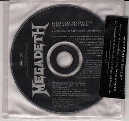 絕版限量仕樣無IFPI Megadeth  92 Limited Edition! LIVE 現場 進口原版CD@B2