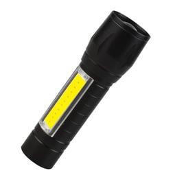 『開立發票』迷你伸縮變焦LED鋁合金手電筒 帶測燈強光手電筒 USB快速充電