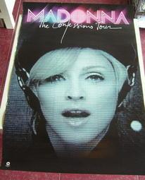 ◎喜樂蒂◎ Madonna 瑪丹娜 ~ 娜語錄 世界巡迴演唱會DVD.華納原版海報.全新未張貼.已絕版