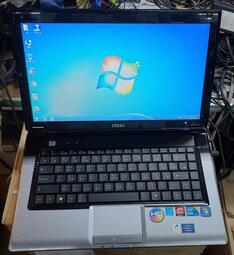 故障筆電 MSI MS-1453 /I5-M460/外殼破損/進系統死當/螢幕顯示正常/零件機