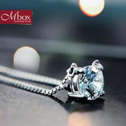 Mbox 項鍊925 純銀施華洛世奇鋯石鑽石奇緣 升級版盒子鍊HA1270 4