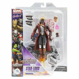 Marvel Select 星際異攻隊 STAR-LORD 擬真星爵戰鬥版可動模型內附支架 迪士尼商店限定 全新盒裝現貨