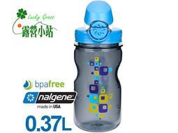 露營小站~【1263-0005】美國Nalgene OTF兒童運動型水壼 方格 (375cc)-【國旅卡】