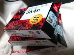 新北新莊-HP 原廠 564XL 黑墨水匣 照片 相片彩色墨水匣 大容量