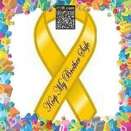 "【i代購】《美國免州稅含運》 Keep My Brother Safe - 4"" x 8"" Yellow Ribbon Magnet 保持我的兄弟安全-4""x8""黃絲帶磁鐵"