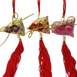 DIY 平安粽子香包材料包端午節平安香包一袋50 個入促35 項鍊式傳統粽子材料包DIY