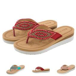 【台灣現貨 附發票】涼鞋 沙灘拖鞋 韓式珍珠防滑人字拖 中高跟涼鞋 女鞋 E3581