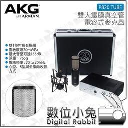 數位小兔【AKG P820 TUBE 雙大震膜真空管電容式麥克風】直播 主唱 樂器 吉他 公司貨 收音 錄音 人聲