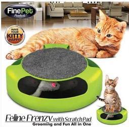 快樂羊雜貨店~滿666免運!『貓抓老鼠玩具盤』貓咪益智遊戲盤.寵物貓玩具.貓捉老鼠轉盤無影鼠逗貓盤.還有三層軌道球臥底鼠