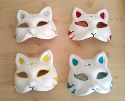 [訂製] COS萬用狐面|夏日浴衣季|歌詞伊東太郎Cosplay日本神社祭典狐狸面具|和風手繪|校慶園遊會|新增初音藍綠