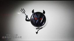 YP逸品小舖 福斯 暗黑惡魔標誌貼紙 防水 反光 GOLF GTI TOURAN T5 TIGUAN