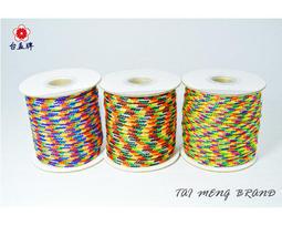 台孟牌 PP 材質 五色線 五款 (編織、手環、串珠、中國結、項鍊、DIY、七色、彩色、繩子、宗教、材料、手工藝、包裝)
