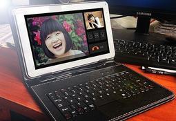 送皮套 平板電腦10.1吋四核1024x600 全志A33高清屏 1G/8G 帶藍牙