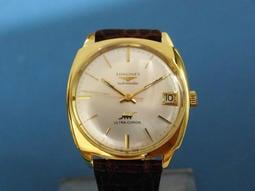【讀冊人的老傢俬】 正18k 黃k實金 浪琴 LONGINES 自動上鍊機械 男錶 約1967年 老錶 古董錶