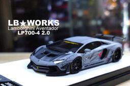 模型車收藏家。LB*WORKS / Lamborghini Aventador LP700-4 2.0 鐵灰