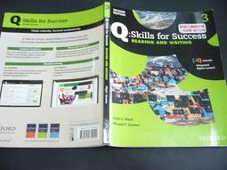 文瑄書坊 Q:Skills for Success 3  9780194819022 七成新