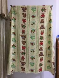 【米倉】二手單人毯子「小熊」寶寶毯/毛毯/地毯/蓋毯/毛巾被/萬用毯/懶人毯/搖粒絨薄毯/布料