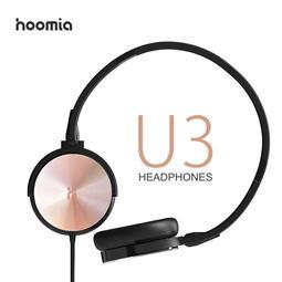 【傑克3c小舖】hoomia 好米亞 U3 黑玫瑰金限量版 經典旋轉摺疊耳罩式耳機 可通話 免運費