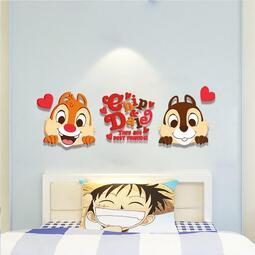 Y-奇奇蒂蒂 松鼠-壓克力立體壁貼 3D立體牆貼 卡通立體壁貼 佈置週邊牆壁 辦公室 兒童房 客廳貼紙裝飾 電視牆裝飾
