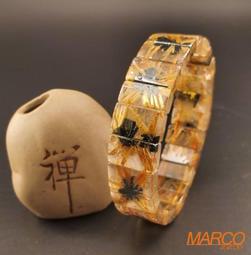 鈦晶花手排 015 手串 手飾 天然水晶 鈦晶 鈦晶花 太陽花 開運招財 能量寶石