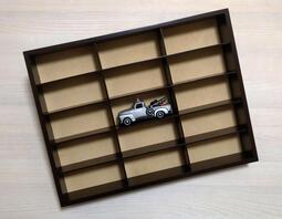 全新盒裝-ATLAS 木製1:43模型車專用開放式展示架 (可放15台車/可壁掛)
