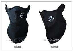 【翔準軍品AOG】忍者下面罩 (黑色) 加厚版 登山/重機/車隊/生存遊戲/露營/求生 遮陽 防UV 面罩