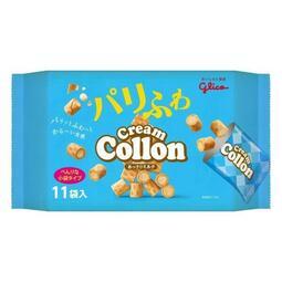 【日本百貨】glico 固力果 卡龍 牛奶捲心酥 11袋入 Cream Collon 牛奶風味 可龍捲心酥 日本進口
