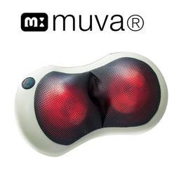 muva 3D多點溫感揉捏枕(可車充/按摩枕/熱敷/揉捏/紓壓/放鬆/按摩器/舒緩腰酸背痛)