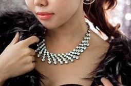 Korinne s Shop 滿400 純取貨 日韓飾品滿鑽不規則立體幾何鎖骨鏈短款項鍊