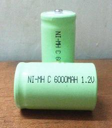 2號充电电池  NI-MH 6000MAH 1.2V C型 2號電池