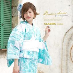 ✦浴衣出租✦G30  水色縞流水紋薄紫椿柄 / 花火浴衣祭 / 和服體驗