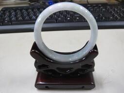 立堡珠寶精品交流 NO.5797 天然翡翠A貨手鐲 手環 白底青 水頭飽滿 玉鐲 玉環
